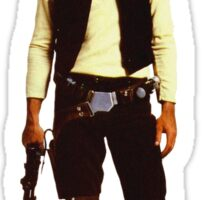 Han Solo Star Wars Dog Sticker