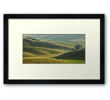 Soothing rolling hills view. Framed Print