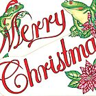 Christmas Frogs Drawing by John Symonette