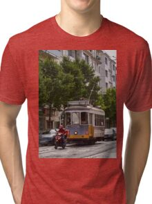 Waiting for the pizza boy Tri-blend T-Shirt
