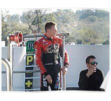 James Courtney Qld Raceway 2012 Poster