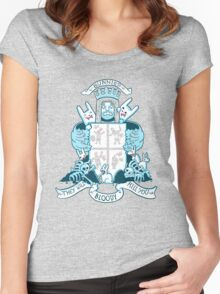 Bunnies are Evil - SFW version Women's Fitted Scoop T-Shirt
