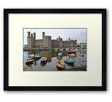 Caernarfon castle Framed Print
