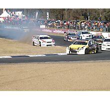 This may hurt!! Qld Raceway 2012 Photographic Print