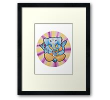 ganesh enjoys shakes Framed Print