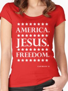 America. Jesus. Freedom. - The Campaign Women's Fitted Scoop T-Shirt