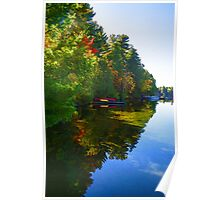 Autumn Lake Mirror - Impressions Of Fall Poster
