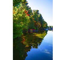 Autumn Lake Mirror - Impressions Of Fall Photographic Print