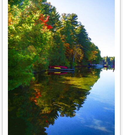 Autumn Lake Mirror - Impressions Of Fall Sticker