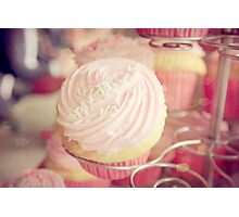 Pink Ribbon Day Cup Cake Photographic Print