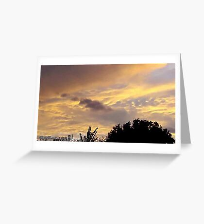 July 2012 Sunset 1 Greeting Card