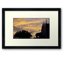 July 2012 Sunset 2 Framed Print