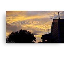 July 2012 Sunset 2 Canvas Print
