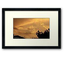 July 2012 Sunset 5 Framed Print