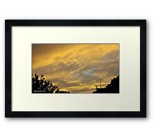 July 2012 Sunset 10 Framed Print