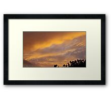 July 2012 Sunset 11 Framed Print