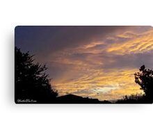 July 2012 Sunset 14 Canvas Print