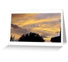 July 2012 Sunset 17 Greeting Card