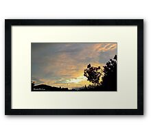 July 2012 Sunset 19 Framed Print