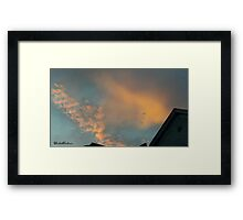 July 2012 Sunset 22 Framed Print