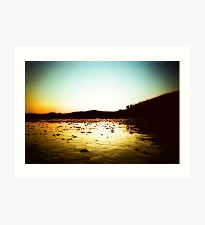 Beach at Downderry Art Print