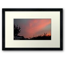 July 2012 Sunset 30 Framed Print