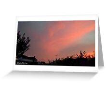 July 2012 Sunset 30 Greeting Card