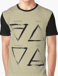 Elements Symbols - Black Edition Graphic T-Shirt