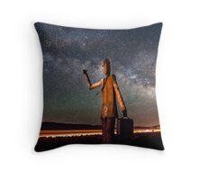 Cosmic Hitchhiker Throw Pillow
