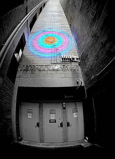 """Back Alley Neon Wisdom  -   """"NEVEROD"""" by bekyimage"""