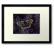 Glowing butterfly Framed Print