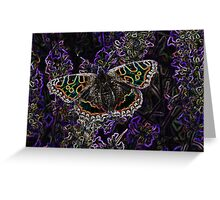 Glowing butterfly Greeting Card