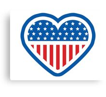 American Patriot Heart Canvas Print
