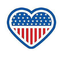American Patriot Heart Photographic Print