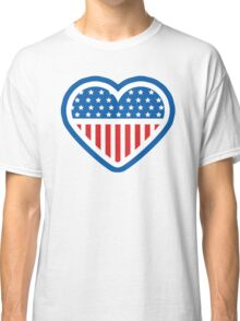 American Patriot Heart Classic T-Shirt