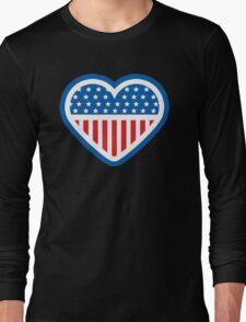 American Patriot Heart Long Sleeve T-Shirt