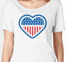 American Patriot Heart Women's Relaxed Fit T-Shirt