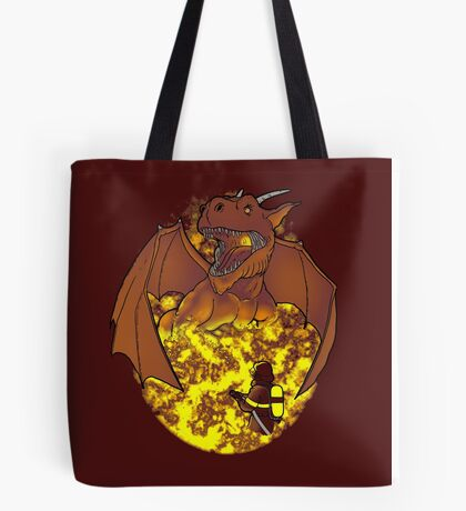 The Fire: an epic fight. Tote Bag