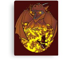 The Fire: an epic fight. Canvas Print