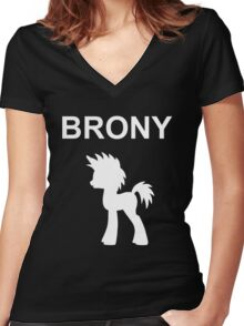 BRONY Women's Fitted V-Neck T-Shirt