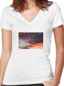 Sky over Munich 13th November 2015 - #43 Women's Fitted V-Neck T-Shirt