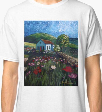 Poppy Field Cottage Classic T-Shirt