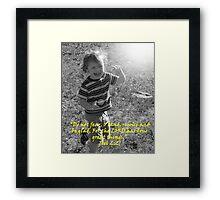"""Joel 2:21""  by Carter L. Shepard Framed Print"