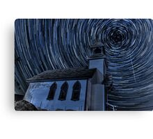 Little Chapel On The Hill Star Trails Canvas Print