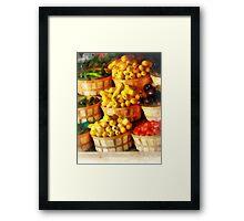 Bushels of Flavor Framed Print