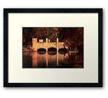 Bridge Reflections Framed Print