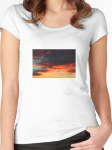 Sky over Munich 13th November 2015 - #42 Women's Fitted Scoop T-Shirt