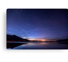 ISS over Klondike Lake Canvas Print
