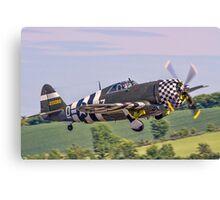 "TP-47G ""Snafu"" tucks 'em up Canvas Print"