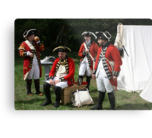 reenactors portraying british soldiers Metal Print